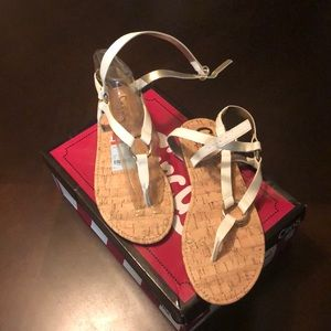 Circus by Sam Edelman Shoes - Ankle Strap White Sandals
